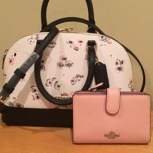 🆕 Coach Satchel & Med zip wallet set